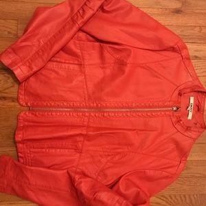 DKNY - Faux Leather Jacket - Size L
